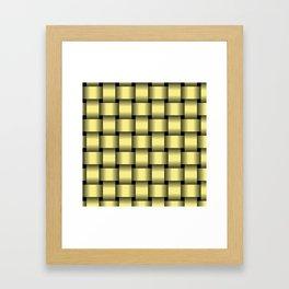 Large Khaki Yellow Weave Framed Art Print