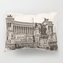 Altar of the Fatherland, Rome Pillow Sham