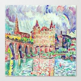 Paul Signac View of Montauban Canvas Print