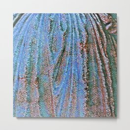 Caryatid in Blue Two Metal Print