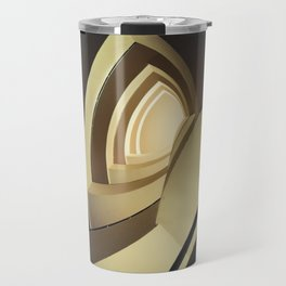 Spiral staircase in brown and cream colors Travel Mug