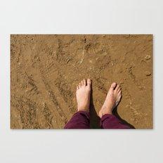 Barefoot on beach (UK) Canvas Print