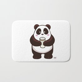 Coffee Panda Bath Mat