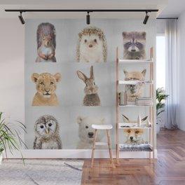 Nursery Animals - Colorful Wall Mural