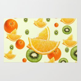 TROPICAL KIWI-ORANGES KITCHEN ART Rug