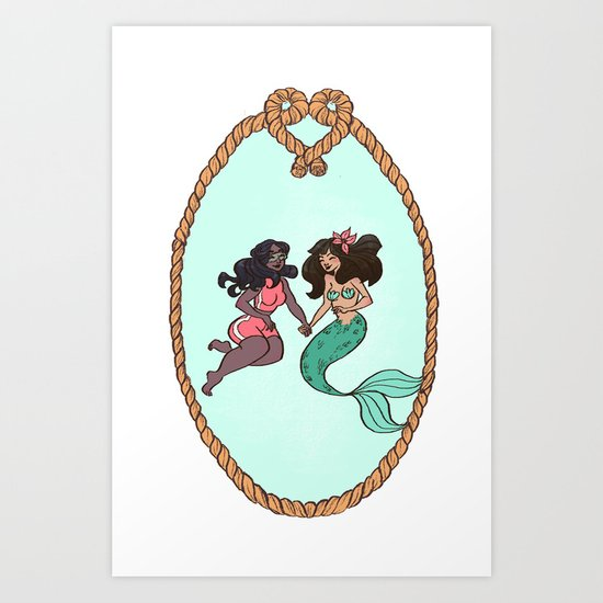 Mermaid Crush Art Print