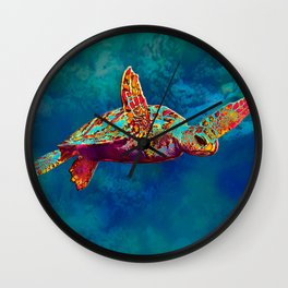 Flight of the Turtle Wall Clock