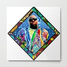 Notorious Afro Diamond Metal Print