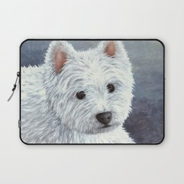 Dog 137 White Westie Laptop Sleeve