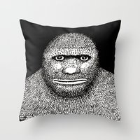 bigfoot Throw Pillows featuring Bigfoot by The Art of Filippo Borghi