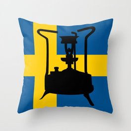 Sweden flag | Pressure stove Throw Pillow