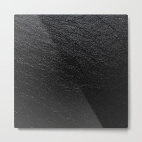 Black Slate Metal Print