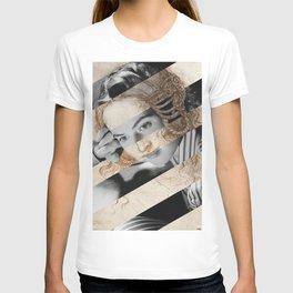 Leonardo Da Vinci's Head of Leda & Ingrid Bergman T-shirt