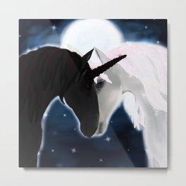 Unicorn love Metal Print