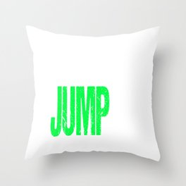 Base Jump, Base Jumping Throw Pillow
