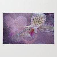 orchid Area & Throw Rugs featuring Orchid by Judith Lee Folde Photography & Art