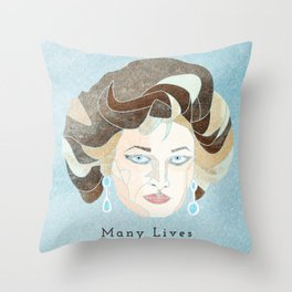 Many Lives Throw Pillow