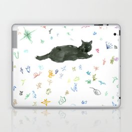 cat and toy Laptop & iPad Skin