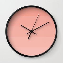 5 shades coral. Wall Clock