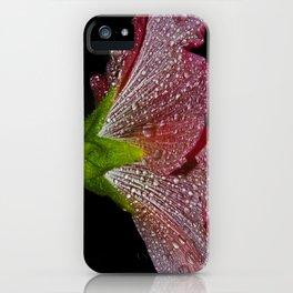 pink hollyhock skirt iPhone Case