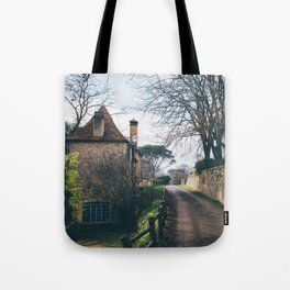 Streets of Domme, France Tote Bag