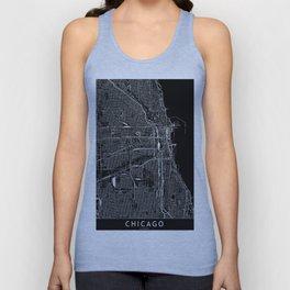 Chicago Black Map Unisex Tank Top