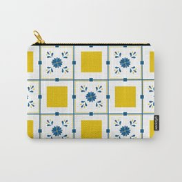 Talavera, blue and yellow flowers Carry-All Pouch