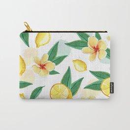 Floral Lemon Splash Carry-All Pouch