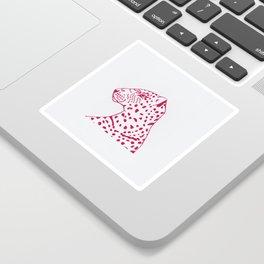 Pink Leopard Sticker