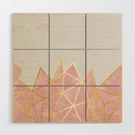 Pink & Gold Geometric Wood Wall Art