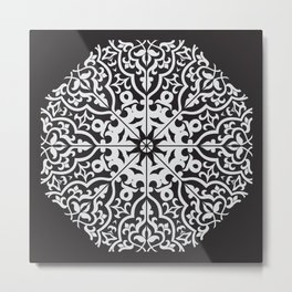 Circular pattern in arabic style.  Metal Print