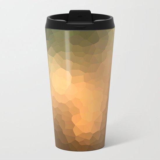 "Abstract pattern ""Sunny day "". Metal Travel Mug"