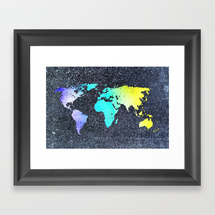 The World Belongs to you Framed Art Print