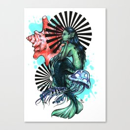Dear Mermaid... Canvas Print