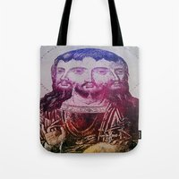 christ Tote Bags featuring Thrice Christ by EclecticArtistACS
