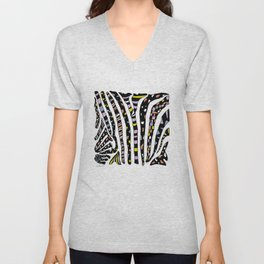 Bedazzled Zebra Unisex V-Neck