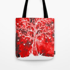 Heart Tree (Red Variant) Tote Bag