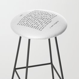 Life quote F. Scott Fitzgerald Bar Stool