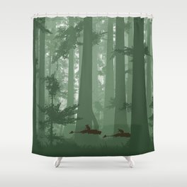 The Battle of Endor - The Tortoise & the Hare Shower Curtain