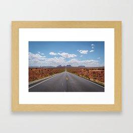 Highway 163, Monument Valley Framed Art Print