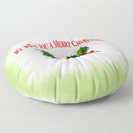 We wish you a Merry Christmas Floor Pillow