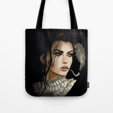 The pipe smoking Lady Tote Bag