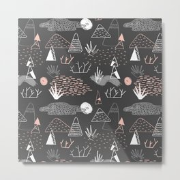 Mountain Pattern Metal Print