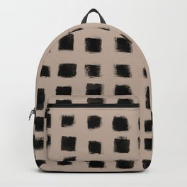 Polka Strokes - Black on Nude Backpack
