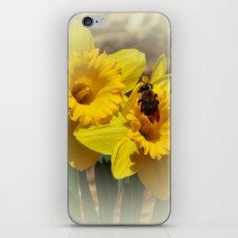 Daffodils and the Bee iPhone Skin