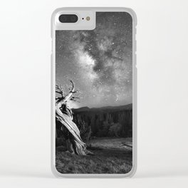 Under Starry Sky At Night Clear iPhone Case