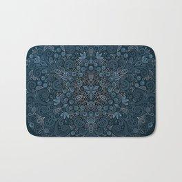 Blueberry Field Watercolor Pattern Bath Mat