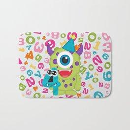 Birthday Monsters 4th Birthday Bath Mat
