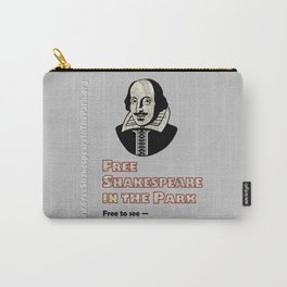 Free Shakespeare in the Park Milwaukee Map Poster Carry-All Pouch