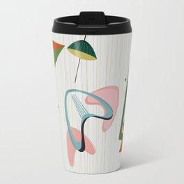 Retro Atomic Era Inspired Art Travel Mug